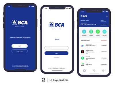 BCA Mobile Banking Exploration layout design layout exploration layout user experience designer user interface designer user experience design user interface design user experience user interface ui designer ux designer ui exploration ux design ui design ui  ux ux ui