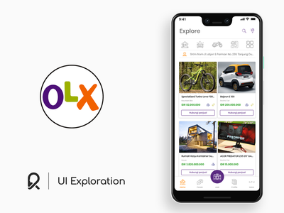 OLX Exploration ui concept layout exploration ui exploration layout design layout user experience designer user interface designer user experience design user interface design user experience user interface ui ux ux design ui design ux ui