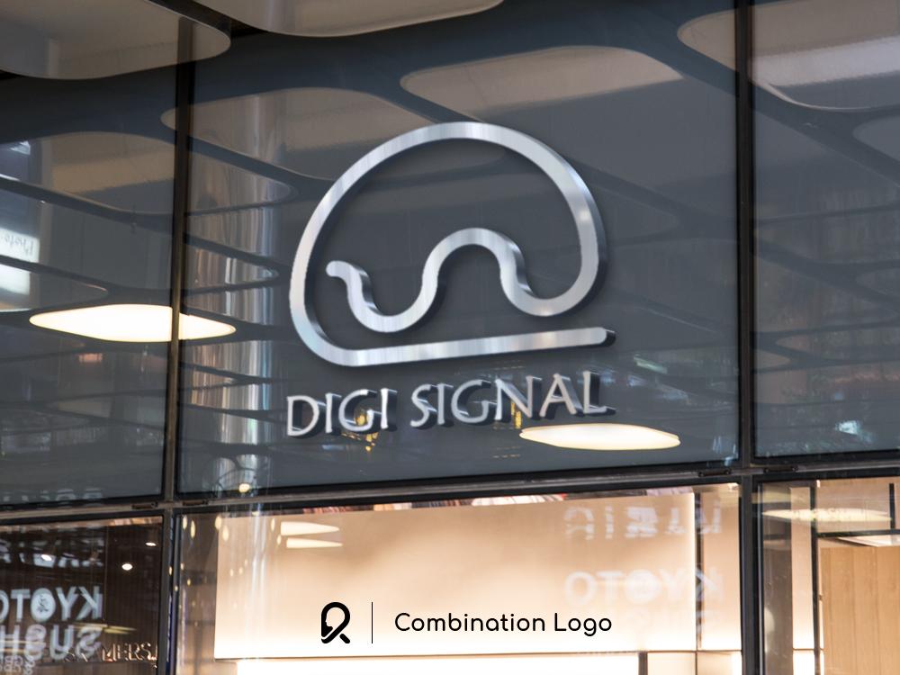 Digi Signal Logo marketplace shop logo creator logo creation logo exploration logo concept logo design concept logo designer vector brand design logo design design branding brand identity brand logotype logo