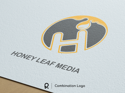 Honey Leaf Media Logo logo work logo branding logo design branding brand identity design brand and identity branding design logo exploration logo mark logo designer brand design logotype logo design design branding brand identity brand logo