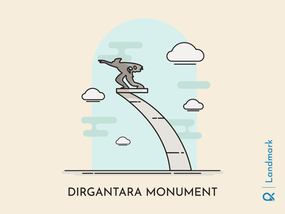 Dirgantara Monument ( Jakarta, Indonesia ) aviation artwork illustration jakarta indonesia hisctorical monument landmark cityscape city building design building icon building vector design architecture