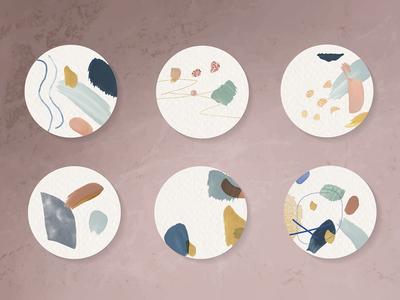 Abstract Design Badge Vector Set