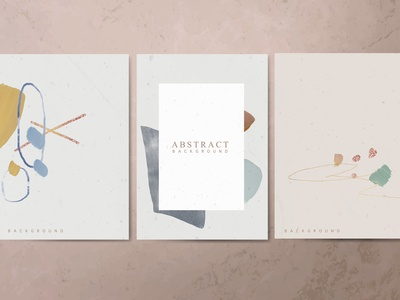 Abstract Background Card Vector Set