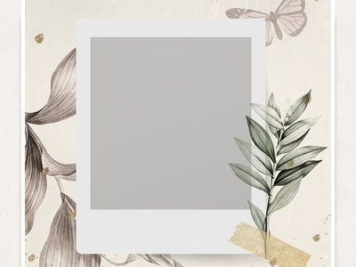 Blank Photo Frame On Nature Background