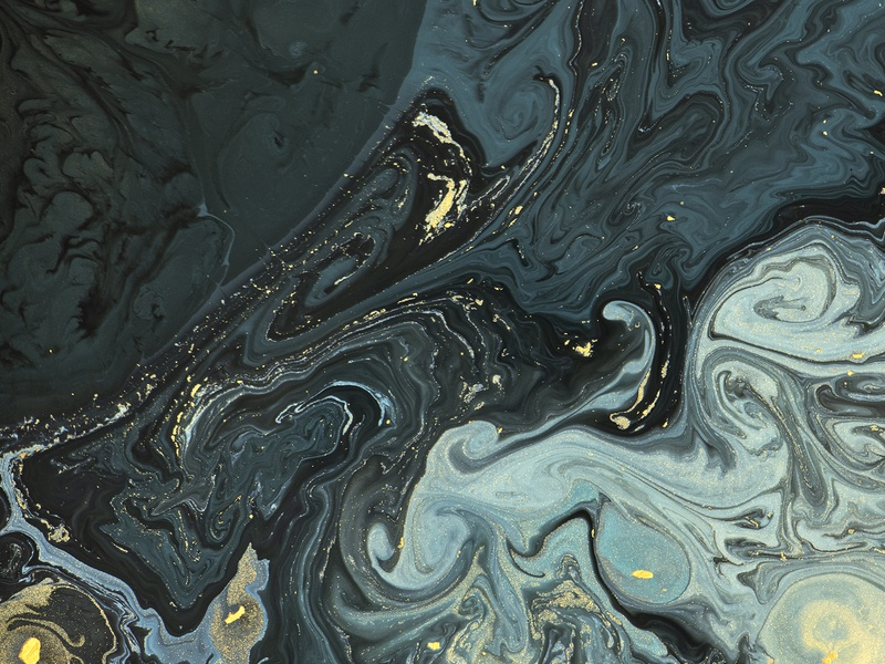 Abstract Liquid Texture With Gold Glitter Background
