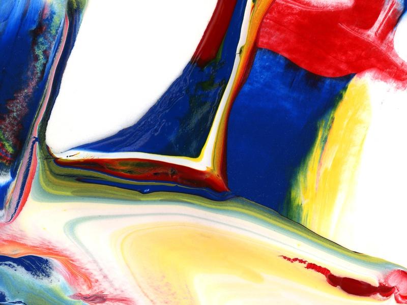 Colorful Abstract Acrylic Painting Background