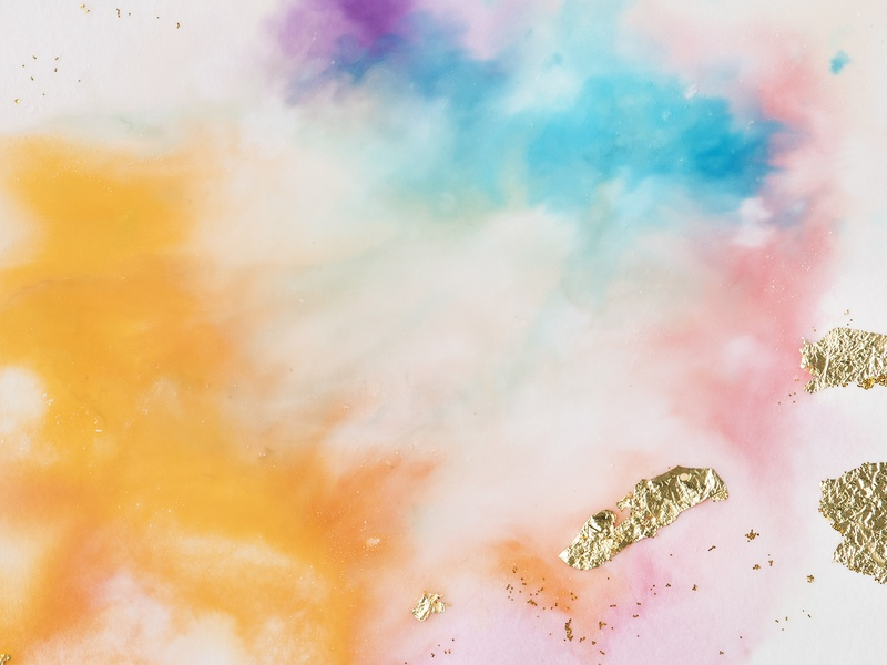 Colorful Abstract Texture With Gold Glitter Background