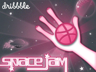 dribbble / space jam