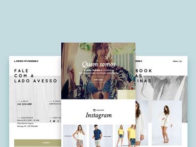 Lado Avesso site responsive web mobile look book fashion avesso lado