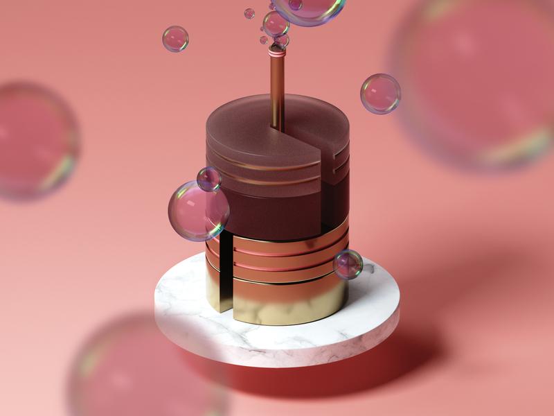 Bubble Factory texture modeling photoshop adobe bubbles factory cake otoy octane render 3d cinema 4d c4d