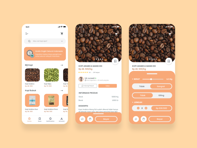 Petakolan - Home and product page coffeeapp coffeeshop ecommerce mobile app design app ux ui