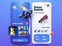 Fortnite Saeson 13 mobile app design clean uiux user experience application ui game app mobile app design mobile app mobile game design user interface design app design app fortnite ui design application interface design user interface ux ui