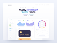 Landing Page Design web development card site site design layout hero image figma crypto page design illustration clear landing page design website design web design landing page web site web