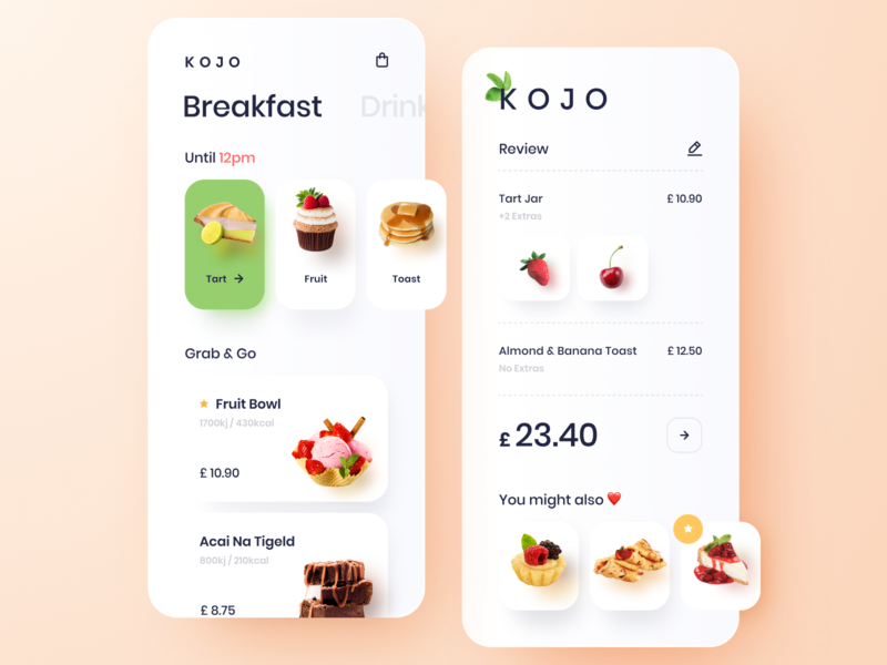 Grab & Go Food App restaurant app design clean food cafe cakes restaurant app food app mobile app application ui design design interface mobile ui mobile app design user experience user interface ux ui app