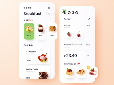 Grab & Go Food App restaurant app design clean food cafe cakes restaurant app food app mobile app application ui design design interface mobile ui mobile app design user experience user interface ux ui app