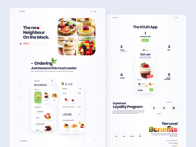 Natural Foods Site restaurant food app web design landing page design webdesign site landing page ui site design website website design landing page branding design web