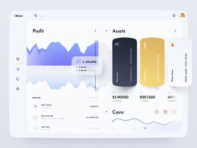 Crypto Wallet Dashboard wallet ui web app design cards ui user experience dashboard app crypto wallet web app ux user interface design crypto wallet dashboard ui ui design application user interface dashboard design web interface ui