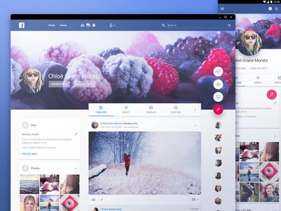 Facebook in material design