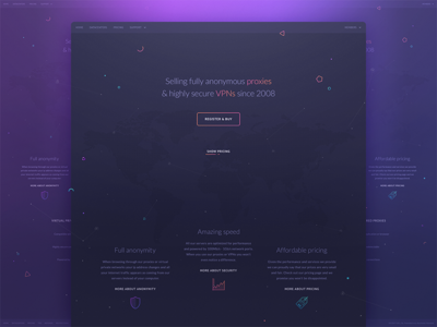landing page  page landing web interface responsive site design material map geo location vpn