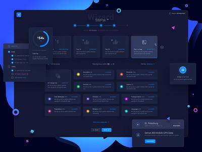 Wizard Dashboard UI design