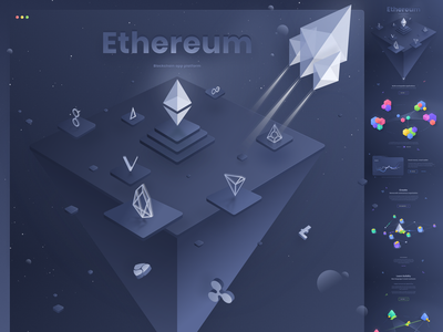 landing page - Ethereum redesign crypto cryptocurrency web eth ico ethereum coin token design ui page landing