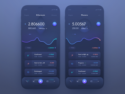 Ui Crypto Wallet app design mobile ui mobile design mobile app cryptocurrency crypto exchange crypto currency crypto wallet design currency exchange dashboard coin token crypto interface user mobile ui app
