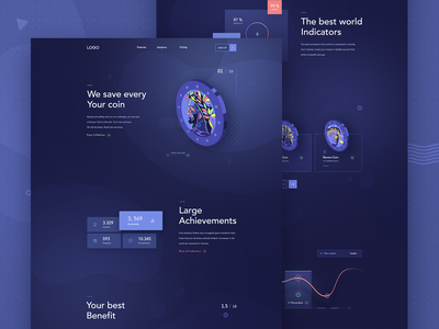 crypto landing page ui design ico site page web interface illustration coins bitcoin services currency crypto currency token bitcoin webdesign coin ui deisgn landing page cryptocoin crypto