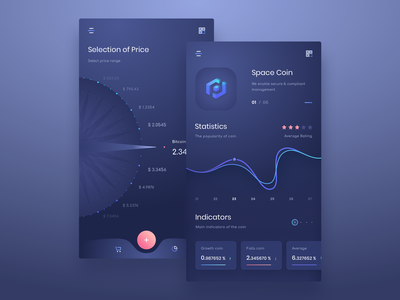 Mobile UI user interface design application design app design mobile app mob page applicaiton admin ico stat payment coin exchange currency crypto dashboard ui design app mobile