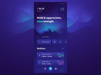 Crypto app UI mobile design mobile app application design app design user interface design user interface rates dashboad mobile design ux application ui app exchange wallet currency crypto coin btc