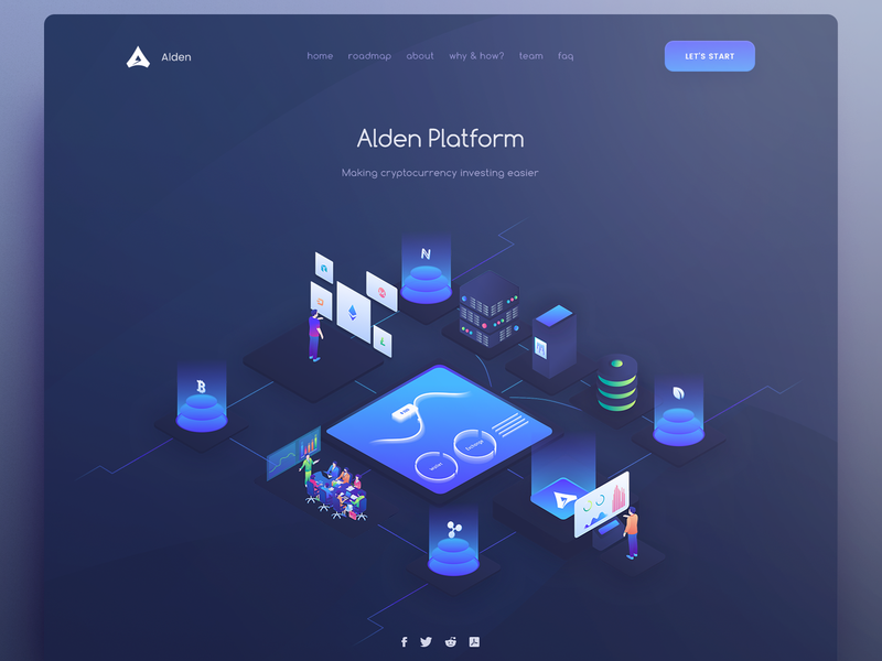 Landing page image hero illustration gui currency google cryptocurrency ico user coin token site material landing crypto page web interface design ui
