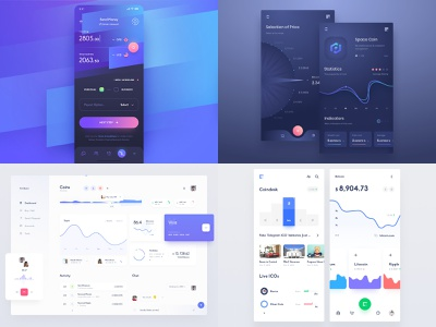 2018 image gui ux app ico user currency administration mobile cryptocurrency page web application token coin crypto dashboard design interface ui
