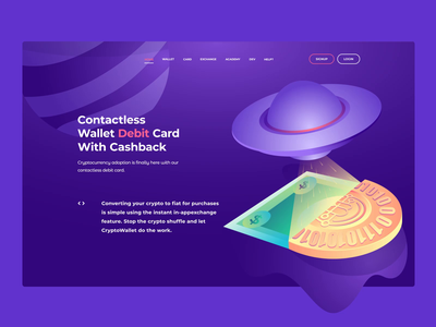 web illustration video mp4 animation after effects animation site design payment card cryptocurrency coin user site ui vector interface web page crypto landing design illustration