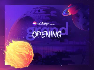 uixNinja.com Opening Landing Page Splash