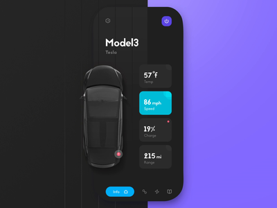 Tesla mobile app ui tutorial tutorial sound animation tesla application design uiux ui  ux mobile application mobile app design mobile app mobile ui application app vector user user interface dashboard interface design ui