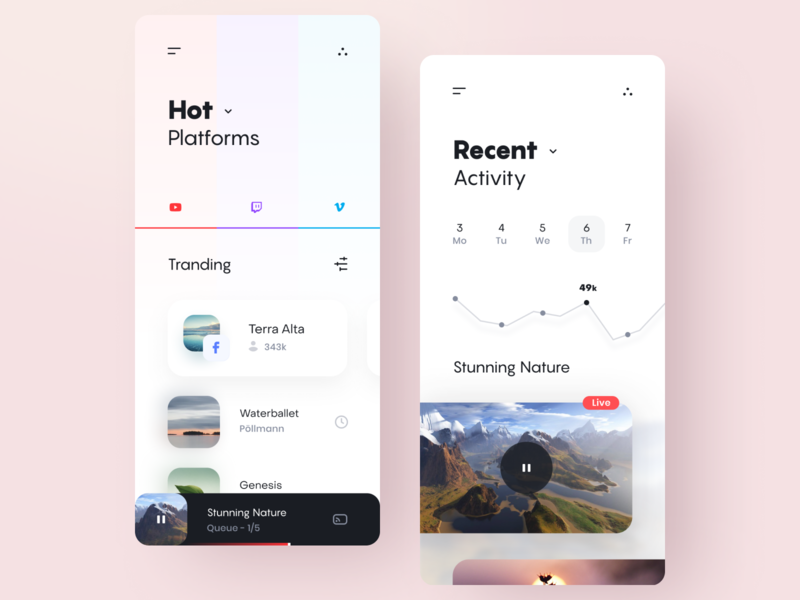 Figma Rocks! dashboard stream channels youtube media social social network rating video ux design ui design user experience user interface figmadesign figma design application app uiux ui