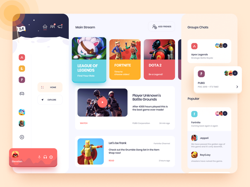 Social Network Designs Themes Templates And Downloadable Graphic Elements On Dribbble