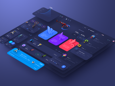 dashboard CSGO game skins game ui game design game art csgo cryptocurrency coin ui design application crypto user interface dashboard interface design ui
