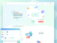 Cloud storage, Landing page