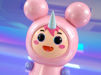 Kuka cute fun funny cute 3d concept concept cute character cute animal cute art anime unicorn 3d cartoon 3d artist 3d character 3d character modeling c4d cinema4d octane 3d modeling 3d character 3d art