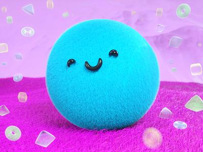 Fun kawaii design cinema4d colors render otoy maxon funky hair octane c4d 3d