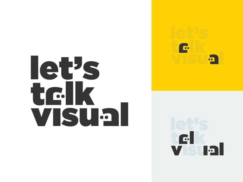 Lets Talk Visual! lettering minimal type illustrator branding logo flat typography design illustration