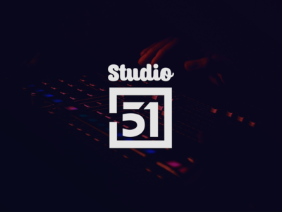 Studio 51 illustration icon flat app type typography logo illustrator design branding