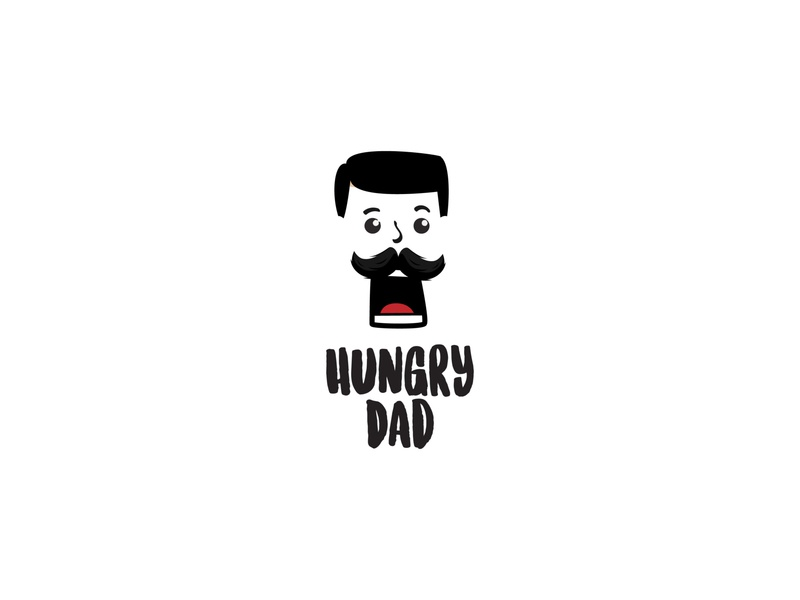 Hungry Dad logotype brand identity minimal illustrator flat vector illustration design logo branding