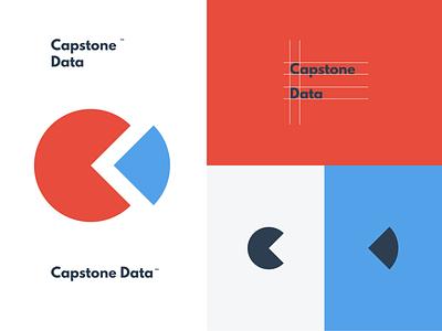 Capstone Data Labs minimalism minimalist logo wordmark logo wordmark logomark branding and identity brand identity minimal illustrator flat logo illustration design branding