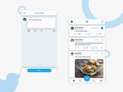Twitter Redesign Concept editing android socialmedia concept simple uiux ux ui mobile post twitter redesign design app