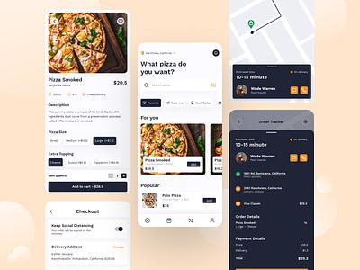 Pizza Delivery Apps app dirbbble art design mobile ux ui uiux appdesign dailyui interface ios android digital graphic design figma simple minimal concept