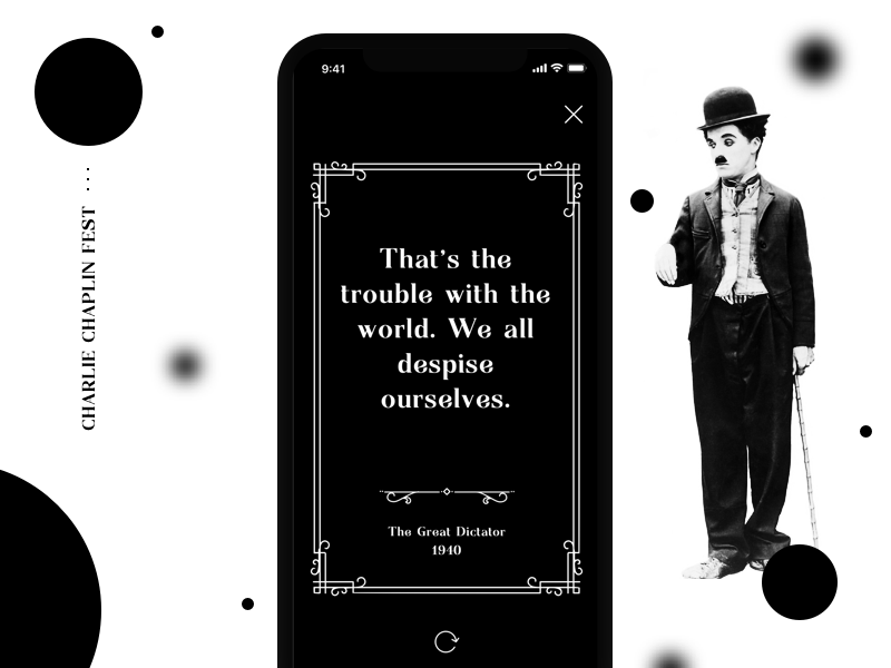 . Chaplin Quote festival quote dark vintage retro film cinema movie mobile app ios iphone