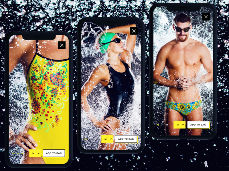 . Full-size image view swimwear swimming sport store iphone app mobile ui photo image.picture product card