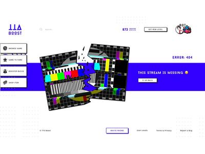 . Page Error for Streams Site