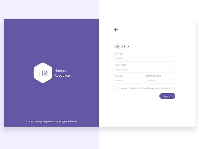 Signup website ux illustration design branding app
